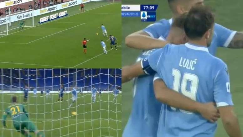 Immobile volvió a marcar para la Lazio. Captura/SkySport