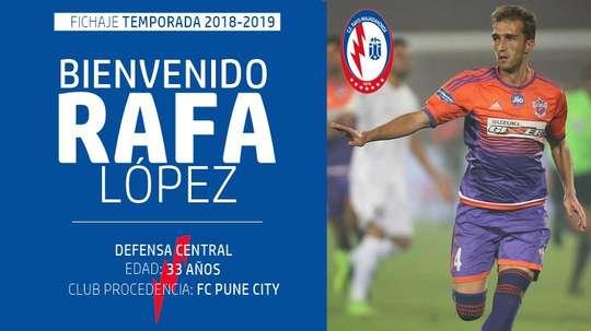 Rafa López firmó una temporada con el Rayo Majadahonda. Twitter/RMajadahonda