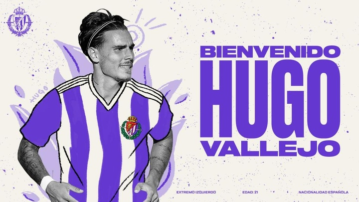 El primer fichaje del equipo pucelano es Hugo Vallejo. RealValladolid