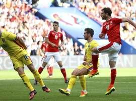 El empate entre Rumanía y Suiza hace justicia. Twitter