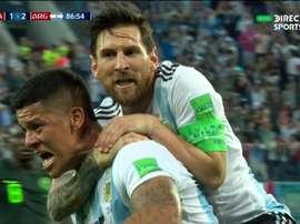 Le latéral a inscrit le but du 2-1. Capture/BBCTV