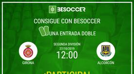 Consigue una entrada doble para el Girona-Alcorcón. BeSoccer