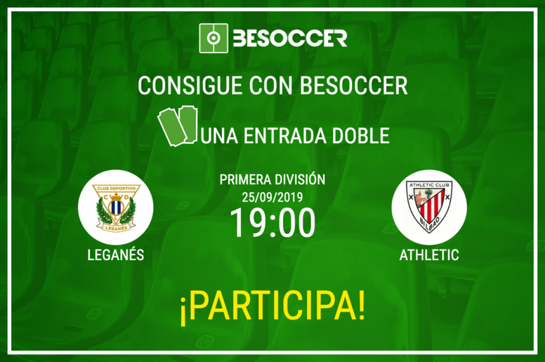 Consigue una entrada doble para el Leganés-Athletic. BeSoccer