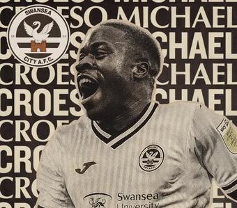 Obafemi y Ntcham, nuevos jugadores del Swansea. Twitter/SwansOfficial