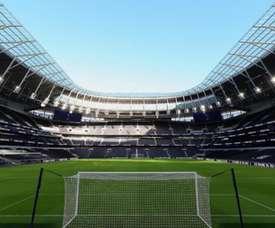 Tottenham's new stadium will host its first match. TottenhamHotspur