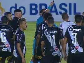 Se repitió un partido en Brasil tras un gol mal anulado. Captura/SporTV