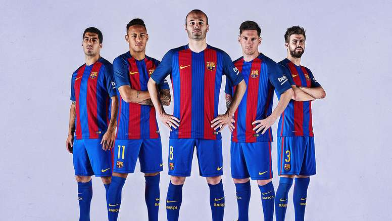 Pin Barcelona s new home kit for the 2016-17 season. FCBarcelona 95647684478
