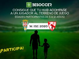 Consigue que tu hij@ acompañe a un jugador del Córdona ante el Sevilla Atlético. BeSoccer