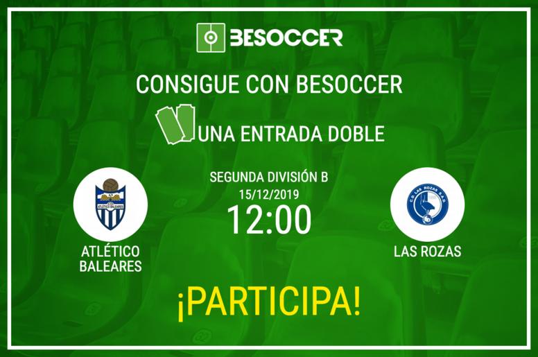 Consigue una entrada doble para el Atlético Baleares-Las Rozas. BeSoccer