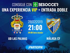 Consigue una experiencia VIP y una entrada doble para el Las Palmas-Málaga. BeSoccer