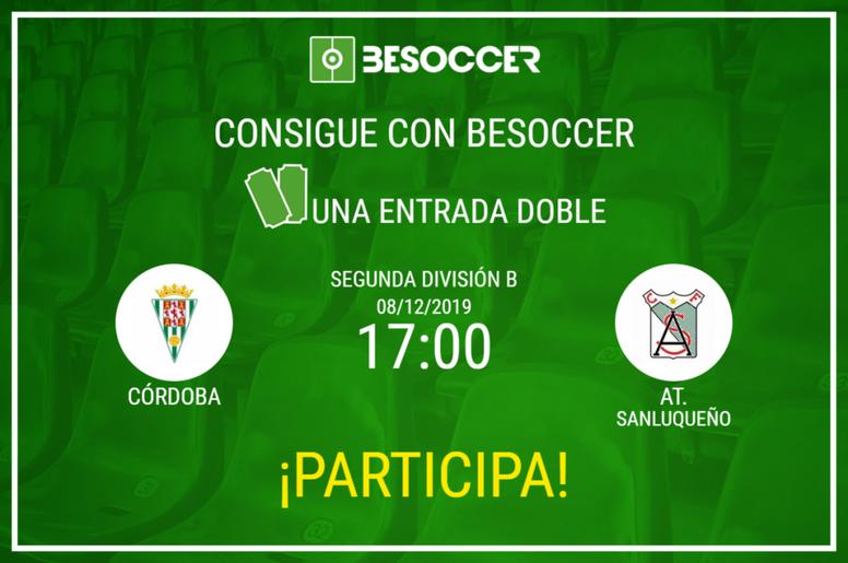Consigue una entrada doble para el Córdoba-Atlético Sanluqueño. BeSoccer