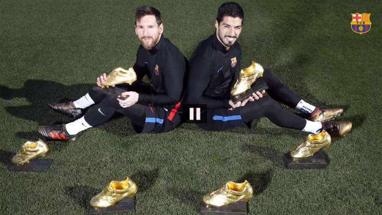 Messi and Suarez have won the European Golden Shoe six time between them. FCBarcelona