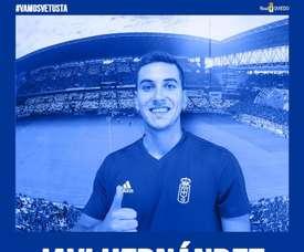 Javi Hernández estuvo la pasada campaña en las filas de El Ejido 2012. Twitter/RealOviedo