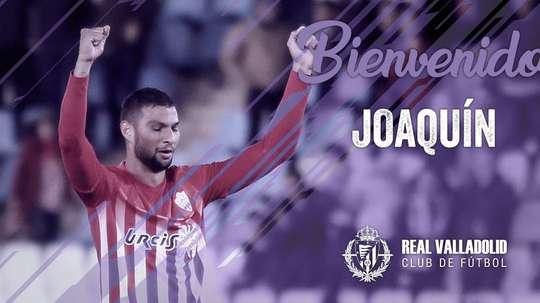 Joaquín dejó el Almería, club en el que se formó. Twitter/RealValladolid