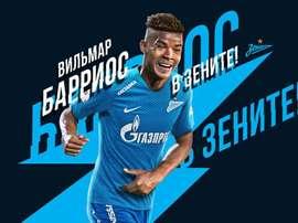 Wilmar Barrios firma cuatro años y medio con el Zenit. FCZenit