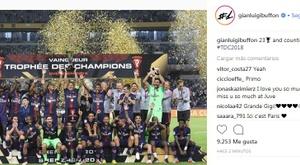 Buffon collectionne un nouveau trophée. Instagram/Gianluigi Buffon