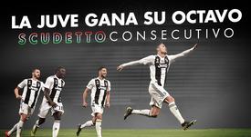 La Juventus consigue su octavo Scudetto consecutivo. BeSoccer