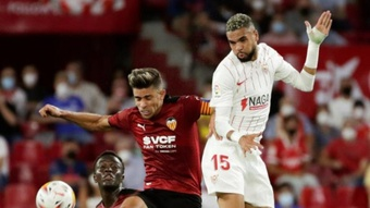En-Nesyri se lesionó contra el Espanyol. EFE