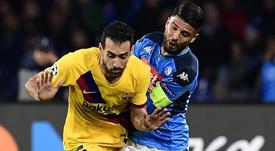 El delantero se lesionó ante la Lazio. EFE