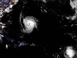 Imagen satelital de la tormenta tropical Isaac. NOAA