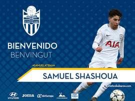 Shashoua prêté à Baleares. Twitter/CDAtleticoBaleares