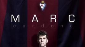 El delantero llega desde el Barcelona B. Twitter/SDEibar