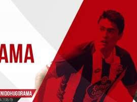 El futbolista procede del Lugo. Twitter/CDMirandes