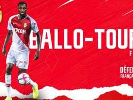 Ballo-Touré. Twitter//AS_Monaco