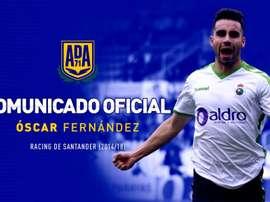 El futbolista firma por dos temporadas. Twitter/AD_Alcorcon