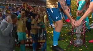 El Zenit alzó la Copa de Rusia... ¡y destrozó el trofeo! Captura/ESPN