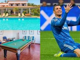 Casa alugada por Cristiano Ronaldo em Portugal custa 4 mil euros por semana. AFP/AirBNB