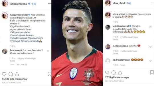 As irmãs de CR7 atacam os seus criticos. Instagram/katiaaveirooficial