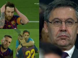 Barcelona faces after the Copa del Rey defeat. Screenshot/TVE
