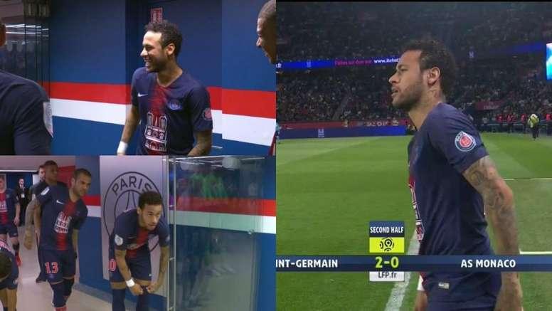 NEymar está de volta. Captura/Movistar