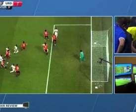 El VAR ya ha hecho de las suyas en el Mundialito. Captura/BeInSports