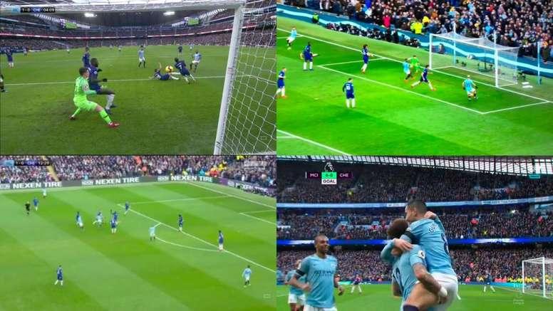 Doublé d'Aguero contre Chelsea. Capture