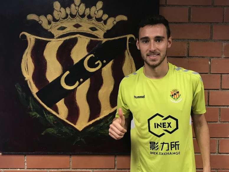 Imanol jugará hasta junio en el Nàstic. Twitter/NasticTarragona