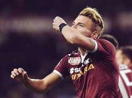 Immobile marcó un doblete ante el Palermo. Twitter