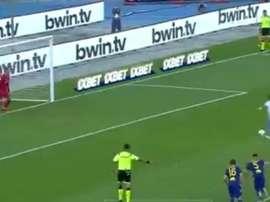 Immobile met la pression sur Lewandowski. Capture/beINSports