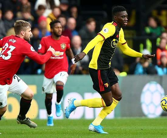 Watford comfortably beat Manchester United. Twitter/WatfordFC