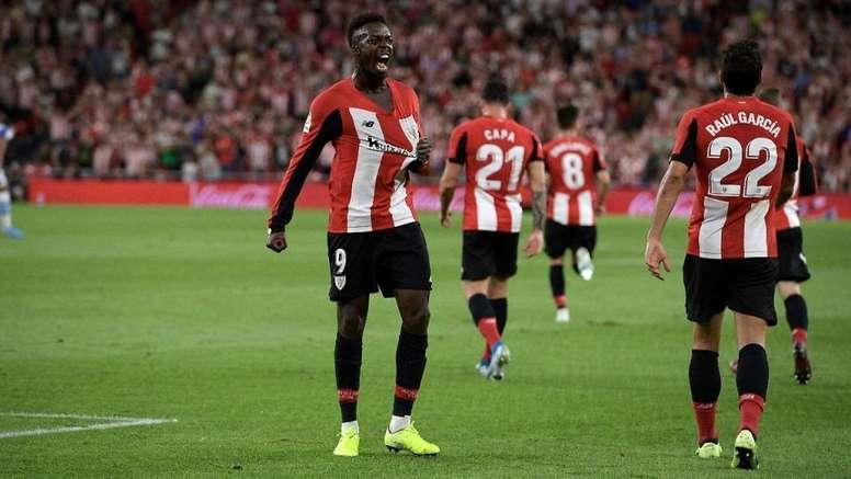 Iñaki celebró el gol con rabia. Twitter/AthleticClub