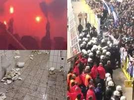 Los ultras del Hertha sembraron en caos en Dortmund. Twitter/Casualsportsn