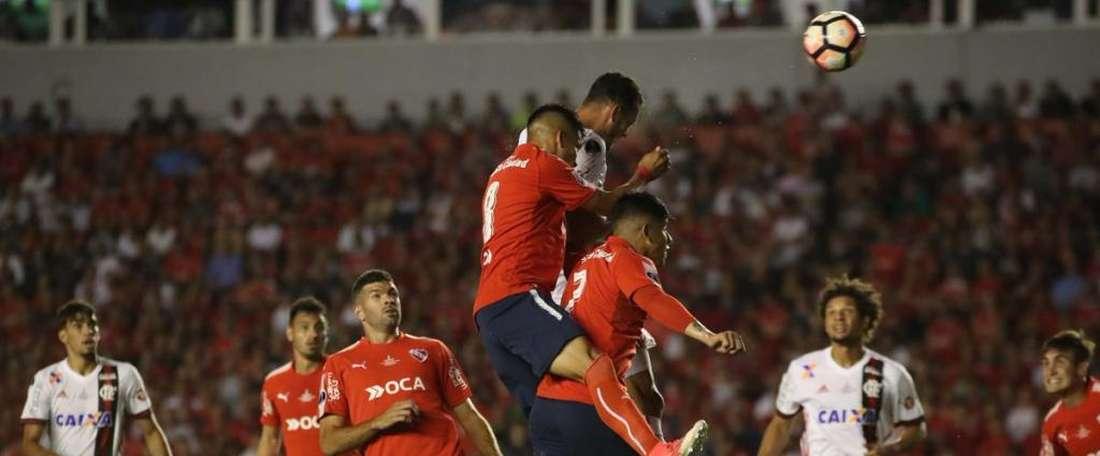 O Fla está em desvantagem na decisão da Copa Sul-Americana. Twitter/Flamengo