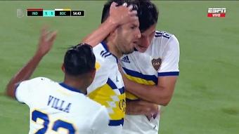 Independiente y Boca se repartieron los puntos (1-1). Captura/ESPN