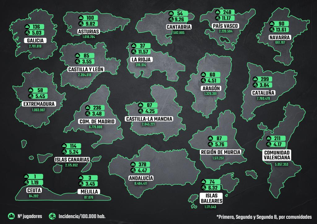 Mapa por comunidades