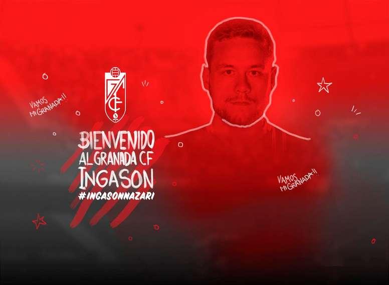 Ingason ya es nuevo jugador del Granada. GranadaCF