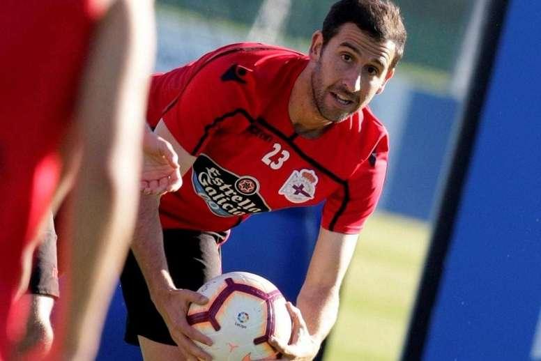 Íñigo López se ha quedado fuera de la ida del 'play off' de ascenso. EFE/Archivo