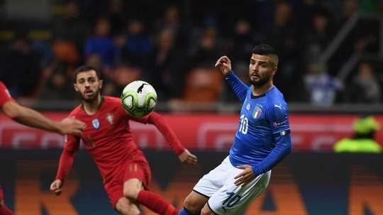Bernardo Silva durante el Italia-Portugal de la Jornada 5 de la Liga de las Naciones. Italia