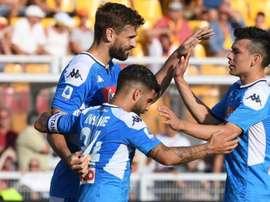 O Napoli prepara um duro castigo aos seus jogadores. Twitter/sscnapoli