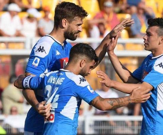 Naples facile face à Lecce grâce à ses Espagnols. Twitter/sscnapoli